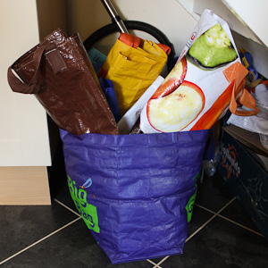 Big reuseable bad fuill of reusable bags!
