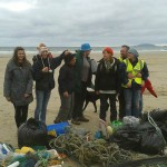 Survey team at Porth Neigwl / Hell's Mouth Beachwatch Big Weekend (by Chris Clarke)